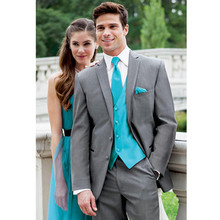 tuxedo wedding suits gray dress custom made suit 3 piece suits high quality classic formal wear