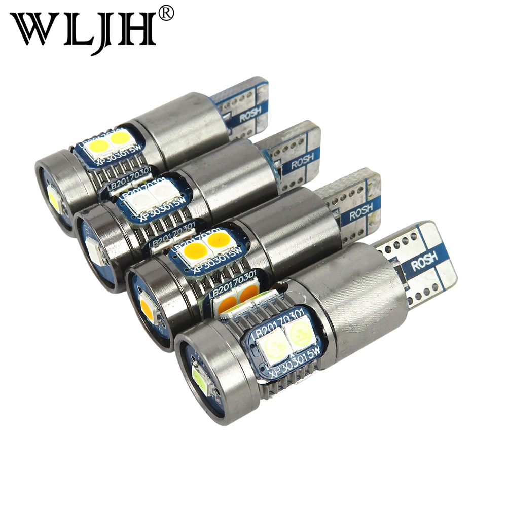 WLJH 2x 12V 24V Signal Lamp T10 Led Car Light T10 W5W Bulb 168 194 Lamp LED For Cars Number Plate Clearance Backup Reverse Light sitaile universal 12v 30 led car license plate backup reverse brake rear light lamp bar red white waterproof number plate lamp
