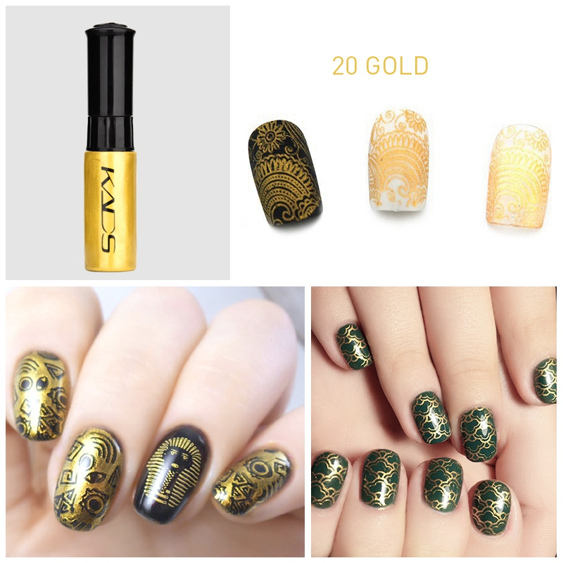 Image 3 - nail stamping polish for Nail stamp templates Varnish 10ml 1 Bottle/LOT Colorful Stamping Polish nail art pen 31 colors vernis-in Nail Polish from Beauty & Health