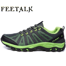 New waterproof canvas hiking shoes for men boots Anti-skid Wear resistant breathable fishing shoe climbing lightweight high shoe