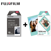2 packs fuji fujifilm instax mini immediata film in bianco e nero + blu frame photo carta Per Mini 8 7 s 7 50 s 50i 90 25 dw Condividere SP-