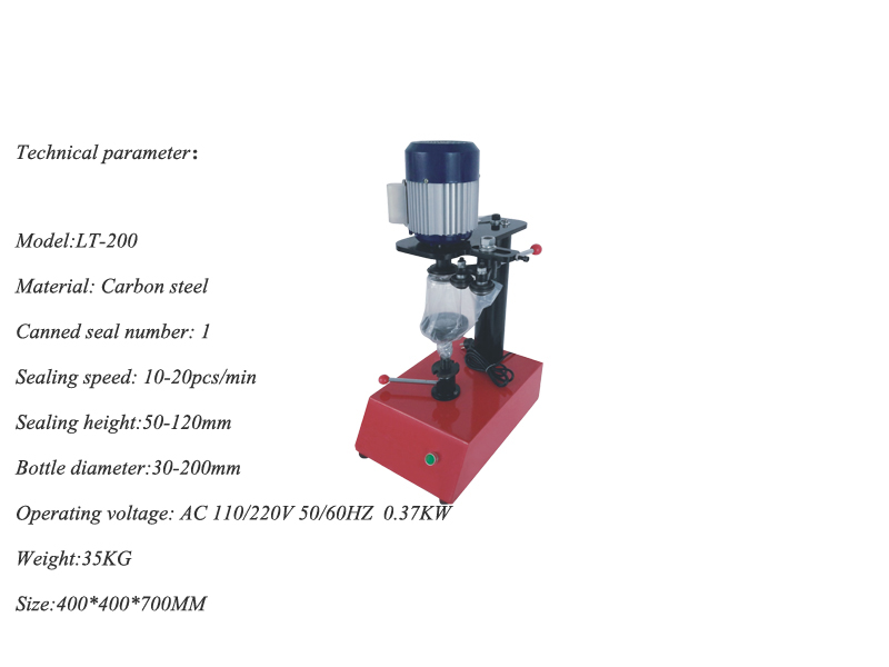Manual Model Can Sealing Machine 10~20pcs/mins Ring-Pull Can Circular Canned Food Beer Capping Machine Tin Seamer LT-200
