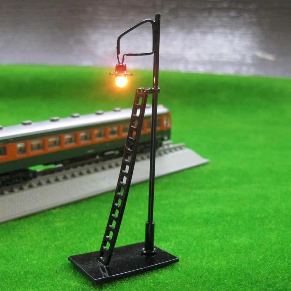 5 sztuk Model pociągu układ latarni lampa led HO N 8 cm model światła odel budynku zestaw światło żarówki