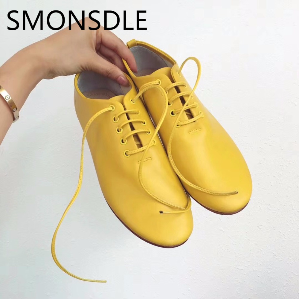 2018 New Spring Autumn Women Flat Shoes Casual Comfortable Women Shoes Genuine Leather Shoes Woman Black White Pink Women Flats new genuine leather shoes woman leather loafers cowhide flexible spring casual shoes women flats women oxfords comfortable shoes