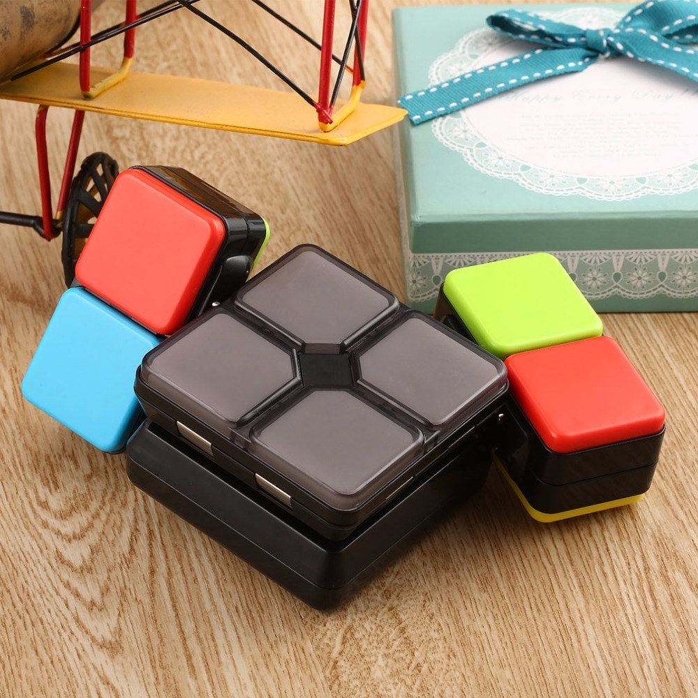 4 Game Modes Magic Cube Flip Slide Cube Puzzle Toy with Light Speed Level Memory Multiplayer Modes Electronic Education Toys велосипед cube reaction hybrid race 500 29 2018