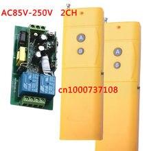 Long Distance 3000 m AC85V 110 V 220 V 250 V 2 canais sem fio rf interruptor de controle remoto controle remoto interruptor de iluminação de energia