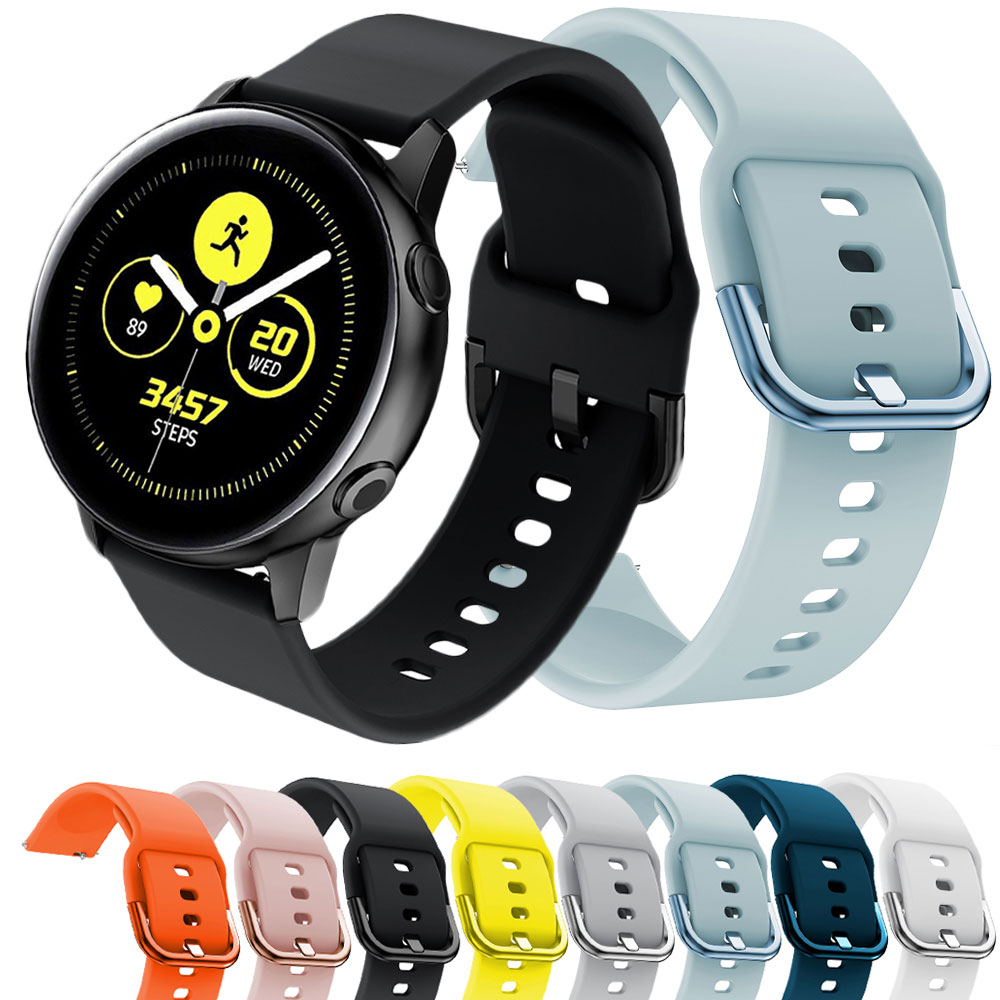 Silicone Watch Strap For Samsung Galaxy Active  Galaxy 42 Band 20mm Bracelet Watch Accessories