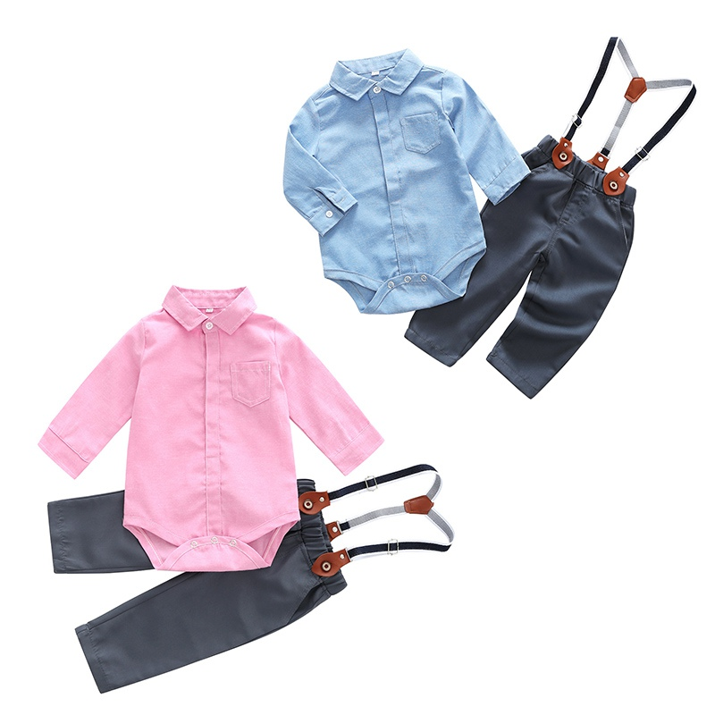 0-2T Summer Hot Selling Baby Boys Casual Clothes Set Infant Kids Long-sleeved Shirt+Pants 2PCS Newborn Newly Fashion Outfits L1