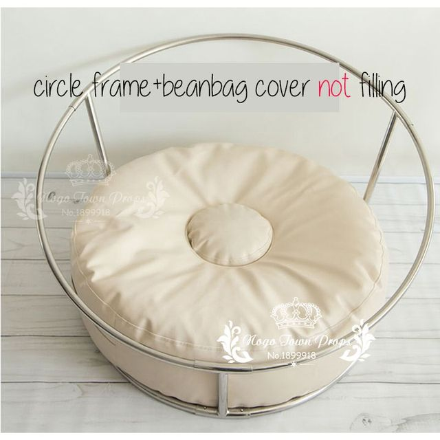 Newborn Studio Size POSING PILLOW Newborn Poser Ottoman Beanbag Photo Prop Infant Poser 85CM Big Size Bean Bag+ Nest Round Shelf