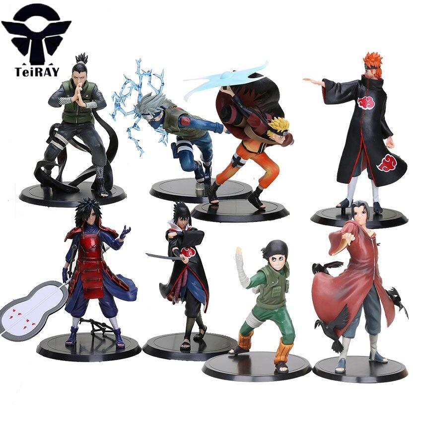 New 2pcs//set Figures Naruto Sasuke Itachi Kakachi PVC Action Collection Toy Gift
