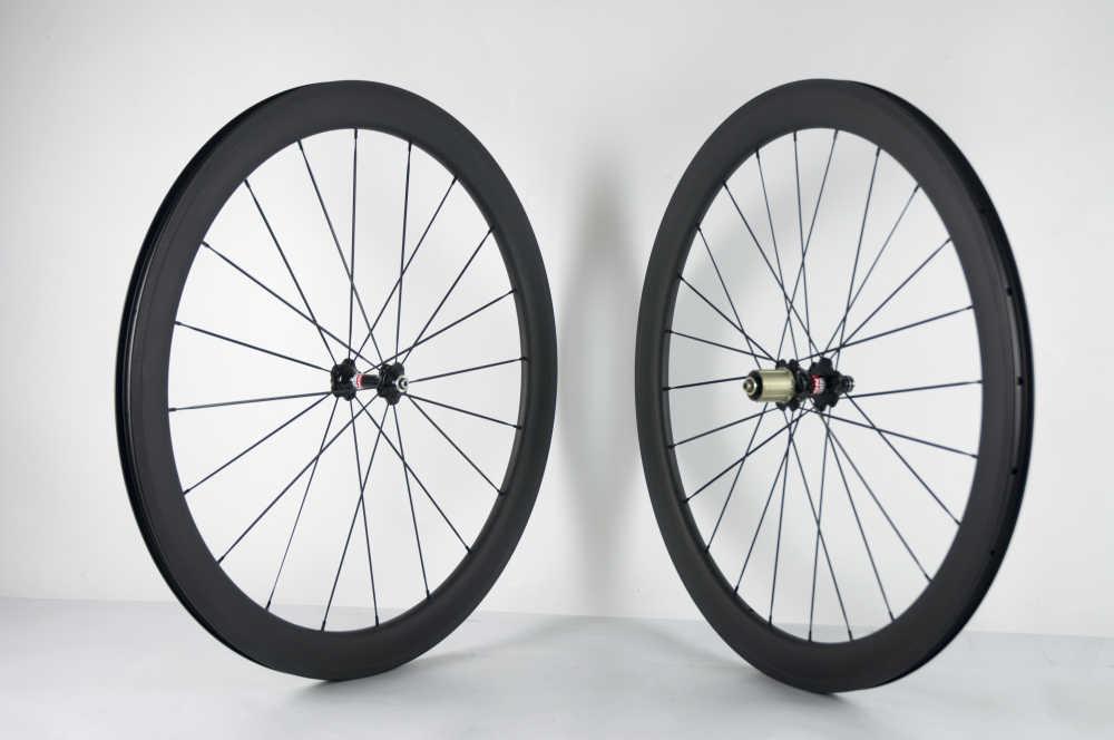 Jantes en carbone Superteam tubeless 25mm roues de vélo de route 700C 50mm