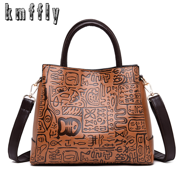 Hot Sale Women Luxurious Handbag Designer Chinese Style Ladies Big Shoulder Bag  Women Tote Female Vintage Leather Crossbody Bag a15caee292