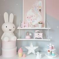Novelty Silicone Rabbit Led Night Light Desk Decorating Atmosphere Gift Cartoon Lamp Light For Children Bedroom