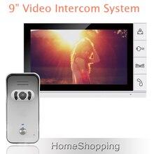 ENVÍO GRATIS Wired Nueva 9 pulgadas TFT LCD Monitor Video de la Puerta Sistema de Intercomunicación teléfono Con 1 Cámara de Visión Nocturna Al Aire Libre EN la ACCIÓN