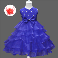 Cute Toddler Girl Clothes Baby Frock Designs Flowergirl Dresses Beige Red Royal Blue Kids White Flower