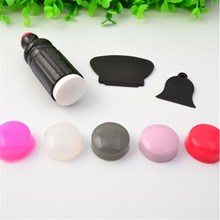 1Pc 3cm Squishy Nail Art Stamper Head Soft Silica Gel Refill Stamper Head Multicolor Nail Art Manicure Tool