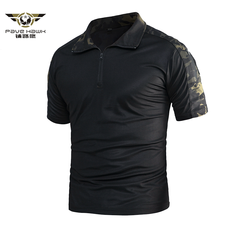 Men Quick Dry Military Uniform Polo Shirts Breathable Wicking Army Combat Tees Shirts Summer Tactical Camouflage Shirt S-3XL