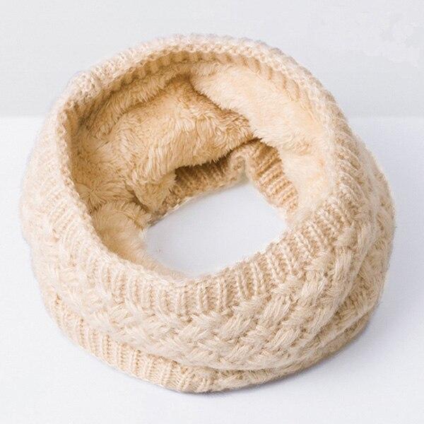 Зимний теплый шарф вельветовый хлопковый шарф на шею для мальчиков и девочек удобный для мужчин и женщин - Цвет: Beige
