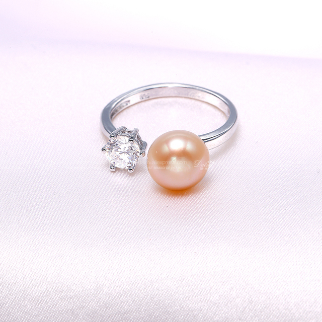 Jewelry Set Of Natural Pearl Earrings And Ring