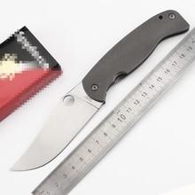 Large Spider C185 Titanium High-Vanadium cpm-10v tool steel Blade Folding Knife Kitchen Outdoor Survival fruit Pocket EDC Tools