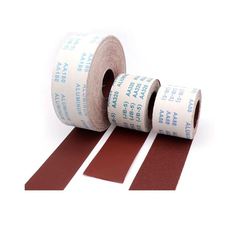 8 Meter Lengte Schuurlinnen Roll 80 120 150 180 240 320 400 600 Grit Polijsten Schuurpapier Voor Metaal Hout Slijpen Polijsten Tool