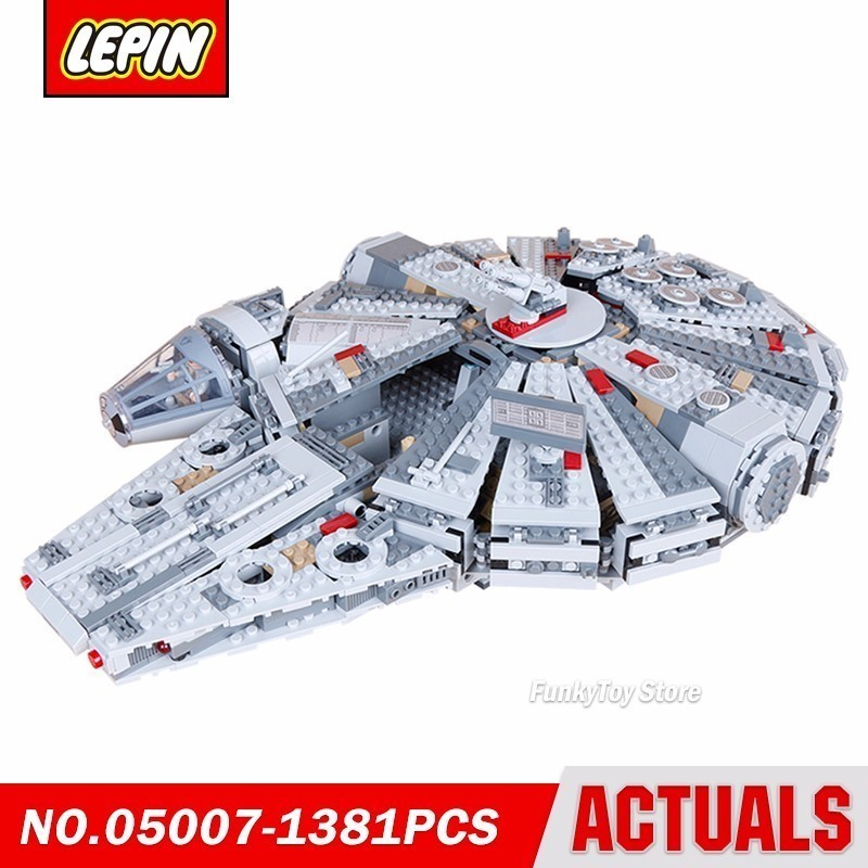 Lepin 05007 Millennium Falcon 10467 Star Series Wars Model Building Block Brick Kits Assembling Compatible Gift Toys new lepin 22001 pirate ship imperial warships model building kits block briks toys gift 1717pcs