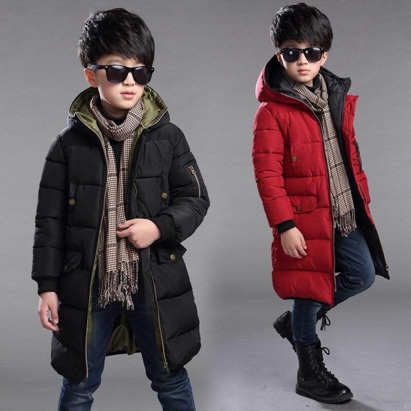 Kış Sıcak Çocuk Ceket Windproof Kalınlaşmak Bebek Boys Ceketler Için Çocuk Kabanlar Çocuk Giyim 5-14 Yaşında