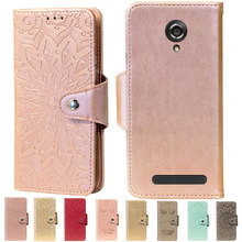 Embossing Stand Flip PU Leather wallet Case Cover For Fly IQ4404 Spark Phone cases(China)