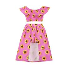 Pudcoco Summer Infant Toddler Newborn Kid Baby Girl Clothes
