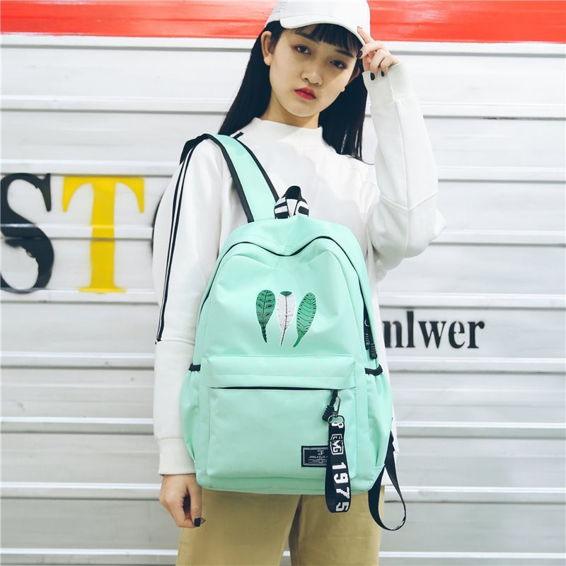 Fashion Student's School Backpack High Quality Durable Boy's Girl's School Bags Satchel Ladies Shoulder Bag Travel Rucksack