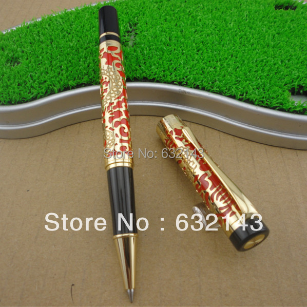 Jinhao Gift Pen Pure with Dragon Pattern Metal Roller ball Pens Luxury Oriental Dragon Ballpoint Pen for Gift gel pen wholesale sales promotion ballpoint pen jinhao 1683 gold roller ball pen steel metal dragon gift silver send a refill yy12