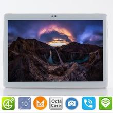 Бесплатная доставка S119 Google 10,1 дюймов Оригинальный 3g/4G Телефонный звонок Android 8,0 Octa Core ips Tablet Pc 8mp MT6753 мини-компьютер