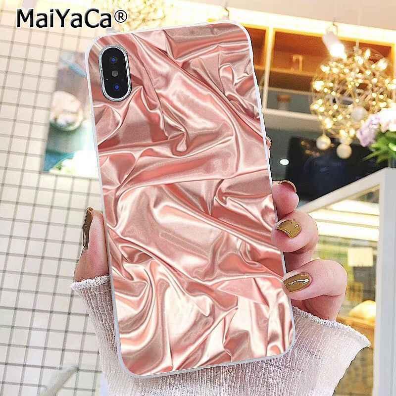 Maiyaca Emas Glitter Phone Case untuk iPhone 11 Pro 11Pro MAX 8 7 6 6S PLUS 5 5S SE XR X XS Max