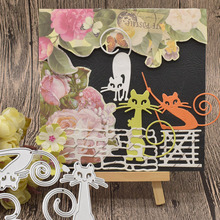Animals Cat Metal Cutting Dies For Scrapbooking Paper Card Album Gift Box Decoration Embossing Template Craft Dies