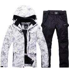 Neige Vestes Homme/Femme Snowboard Vêtements D'hiver Sports de Plein Air ski costume ensembles Étanche Épais-30 Chaud Costume vestes + pantalon
