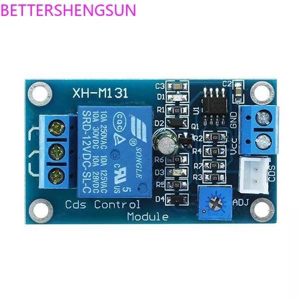 XH-M131 Photoresistor وحدة سطوع وحدة التحكم الآلي 5 فولت 12 فولت فوتوكونترول التتابع مفتاح الإضاءة