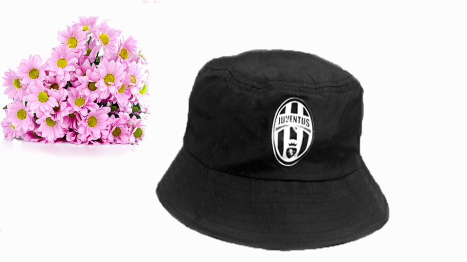 Free shipping 2014 New arrival hat black cotton juventus club bucket hat  men women bucket hats fisherman hat-in Bucket Hats from Apparel Accessories  on ... 6be14b4334e