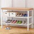 Простой многослойная шкаф для обуви экономические стеллаж для хранения обуви вход шкаф компактный сборки менять обувь скамья мебель для до...