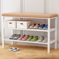 Simple Multi layer Shoe Rack Economic Storage Rack Shoe Cabinet Entrance Space saving Assembly Change Shoe Bench Home Furniture