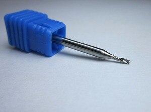 """Image 3 - סיטונאי קוטר 1 מ""""מ 1.5mm 2mm 2.5mm 3.175mm טונגסטן קרביד אחת 1 חליל סוף מיל כרסום חותך CNC Bits עבור אקריליק"""