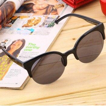 Hot Stilvolle Unisex Klassische Runde Form Kreis Rahmen Semi-Randlose Sonnenbrille Brillen Outdoor Männer Frauen Sonnenbrille Einzigartige