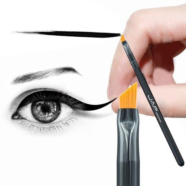 JAF portátil cosméticos Eyeliner maquillaje cepillo manija del pelo de Nylon Gel delineador líquido de ojos cepillo maquillaje herramienta