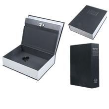 Dictionary Book Valuables Storage Safe Box Secret Hidden Lock Black Size L Free Shipping