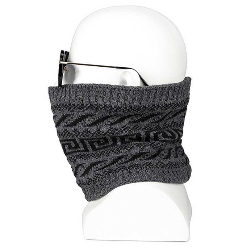 MANYUE-CO moda hombres invierno bufanda anillo mujer bufandas tejidas para hombres cuello chal Snood urdimbre Collar cálido hombre suave algodón bufandas