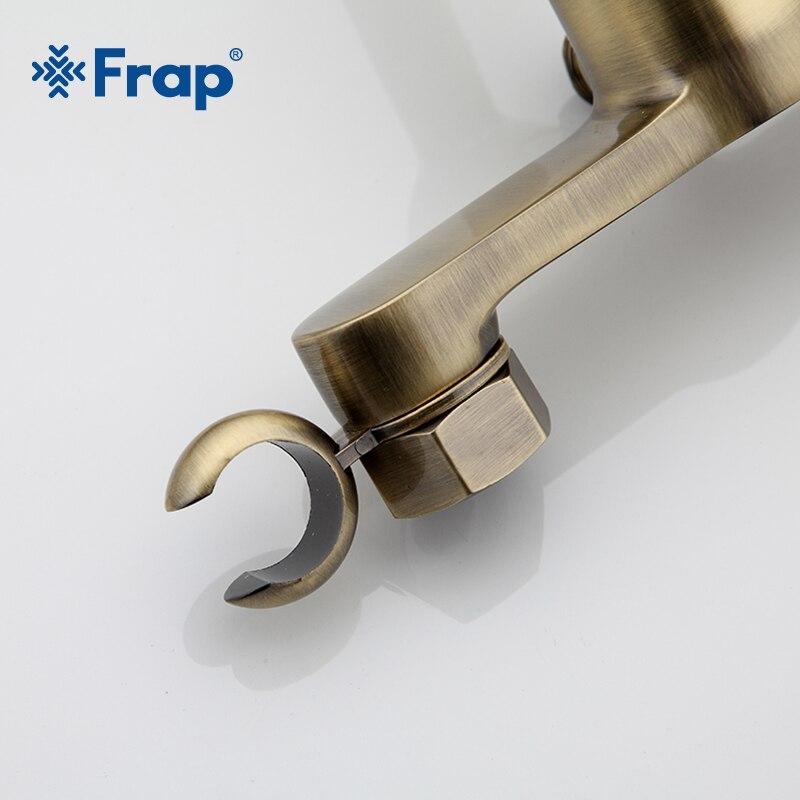 Frap neue Antike wc reiniger set bronze sauber hand dusche spray bidet sprayer gun wc armaturen dusche bidets einlauf F2041-4