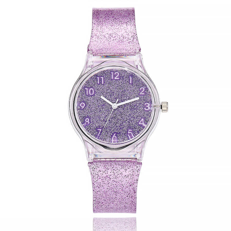 New transparent ladies shiny quartz watch jelly transparent silicone watch with flash fashion round dial girl casual watch CuteNew transparent ladies shiny quartz watch jelly transparent silicone watch with flash fashion round dial girl casual watch Cute