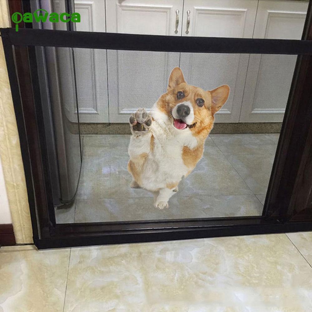 Pet Gate Dog Pet Fences Portable Folding Safe Guard Indoor