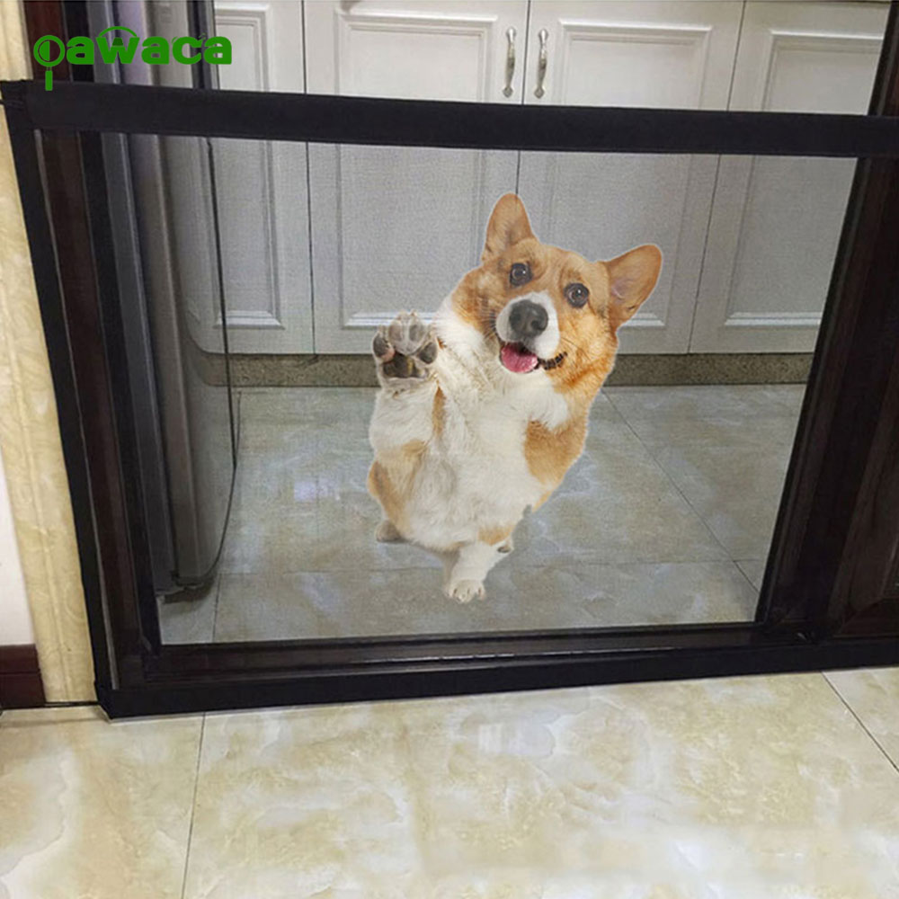 Pet Gate Dog Pet Fences Portable Folding Safe Guard Indoor and Outdoor Protection Safety Magic Gate For Dogs Cat Pet