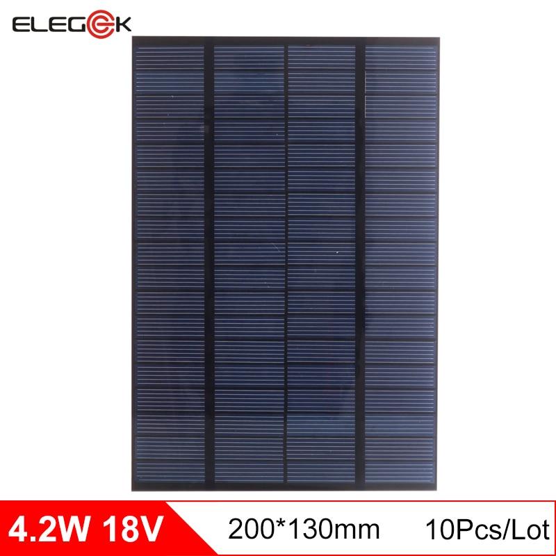 ELEGEEK 10pcs Solar Panel 18V 4 2W PET Solar Panels Mini Solar Cells Polycrystalline Silicon Solar