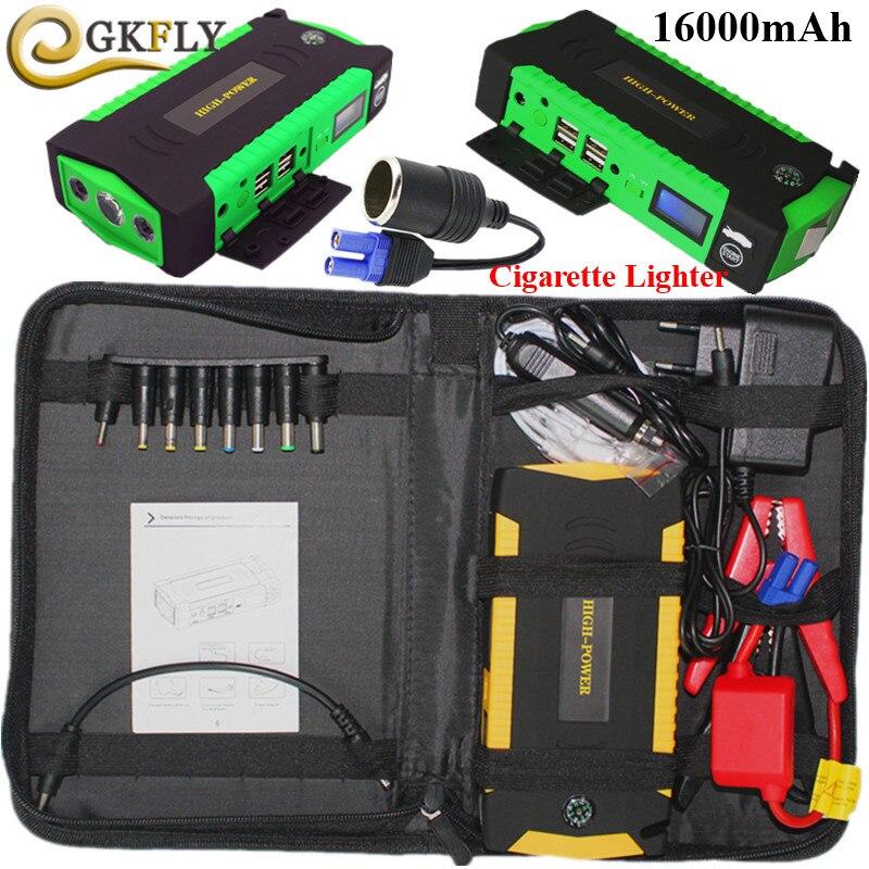 Super Power16000mAh dispositif de démarrage 600A Portable voiture batterie démarreur Jumper 12V essence Diesel voiture chargeur pour voiture batterie LED